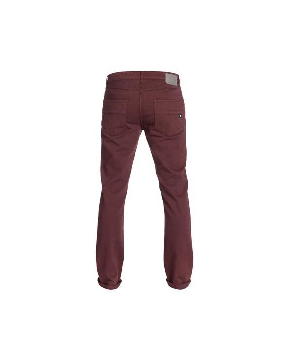 "DC Worker Slim Color 34"" Inseam Jeans. Zinfandel"