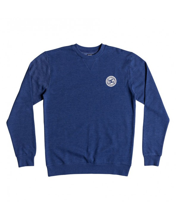 Dc Rebel Crewneck - Blue Heather (byb0)