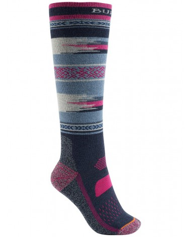 Burton Women's Performance Midweight Snowboard Socks - Mood Indigo