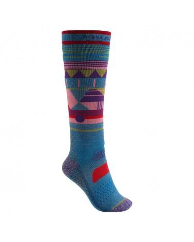 Burton Women's Performance Midweight Snowboard Socks - Blue Heaven