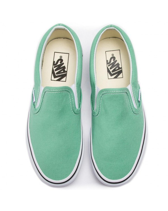 Vans Classic Slip-On Shoes - Neptune Green/True White