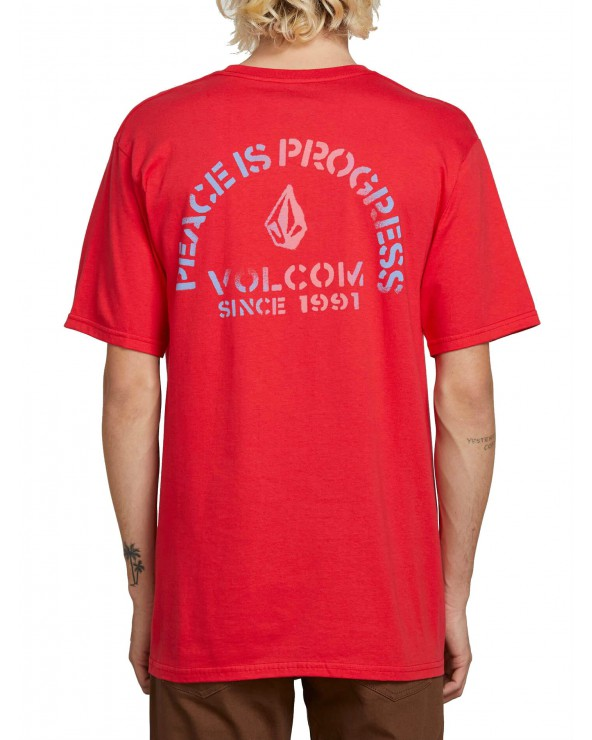 Volcom Peace Is Progress Ss - True Red
