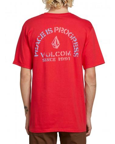 Volcom Peace Is Progress Ss - True Red