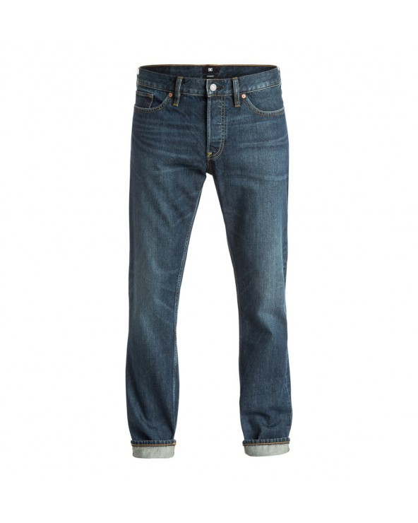 Dc Washed Dark Stone Rigid - Straight Fit Jeans - Dark Stone (btlw)