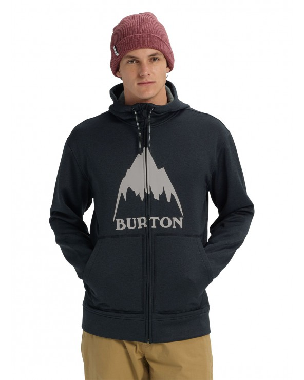 Burton Oak Full-Zip Hoodie - Mountain True Black Heather