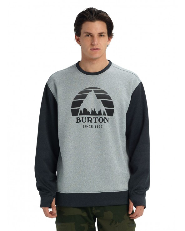 Burton Oak Crewneck - Gray Heather / True Black Heather
