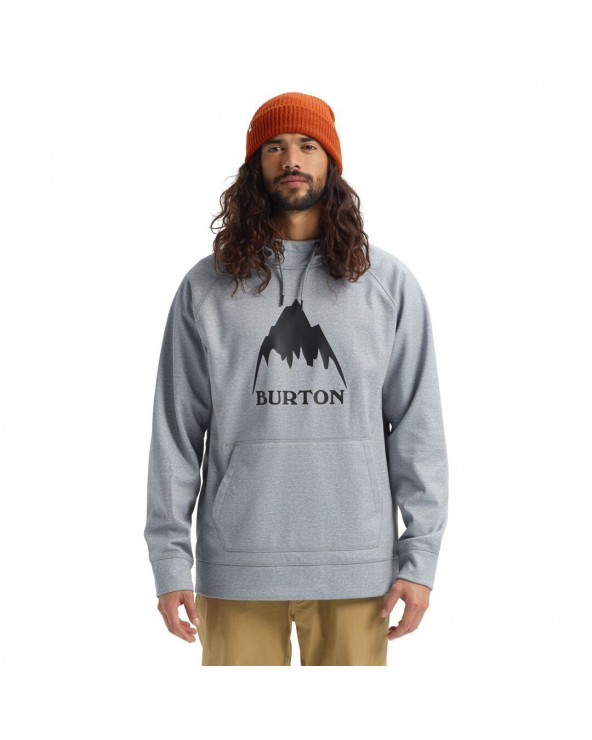 Burton Crown Bonded Technical Hoodie - Gray Heather