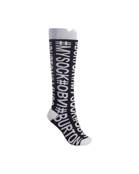 Burton Women's Party Snowboard Sock - Hashtag Sock