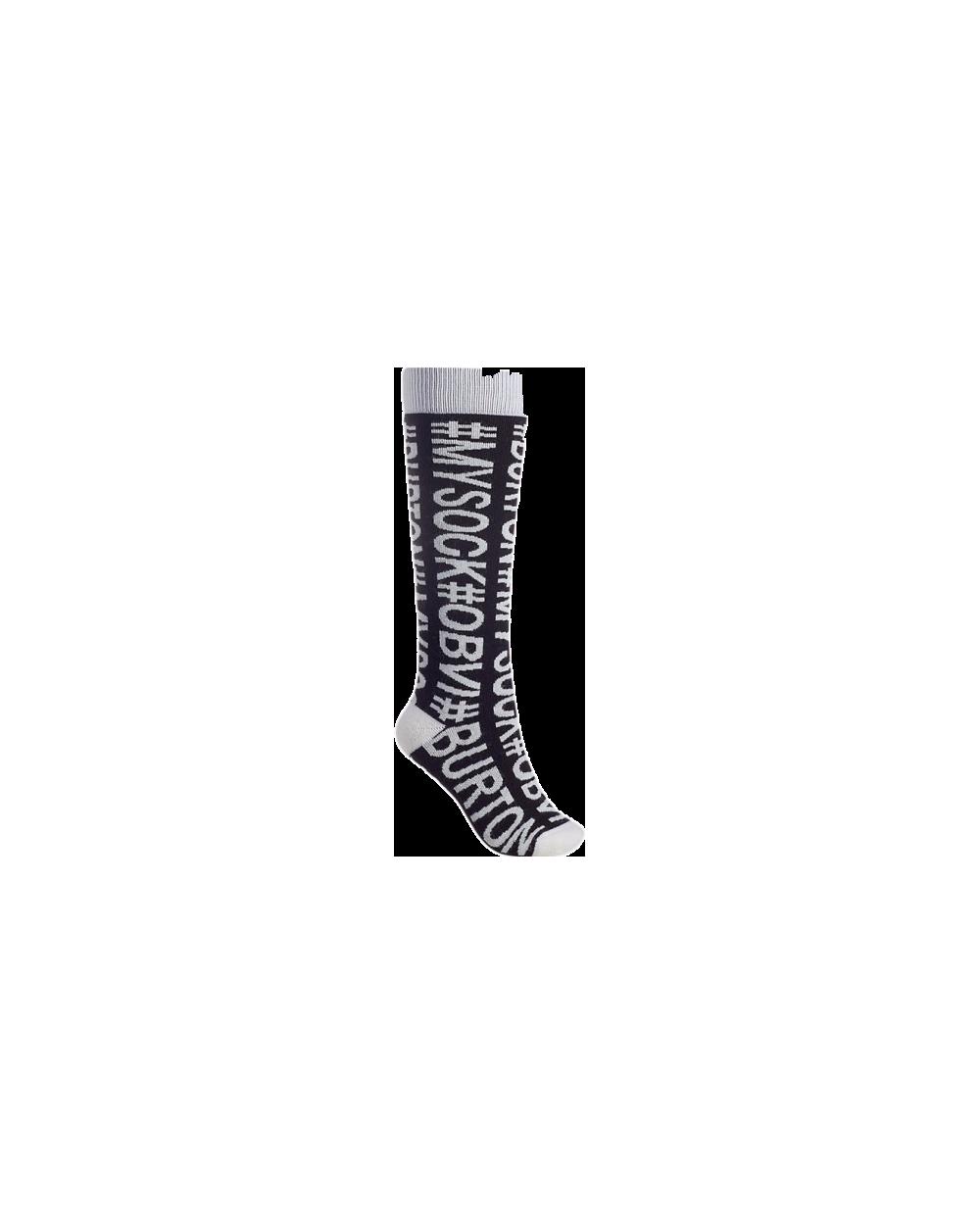 Burton Women's Party Snowboard Sock - Hashtag Sock