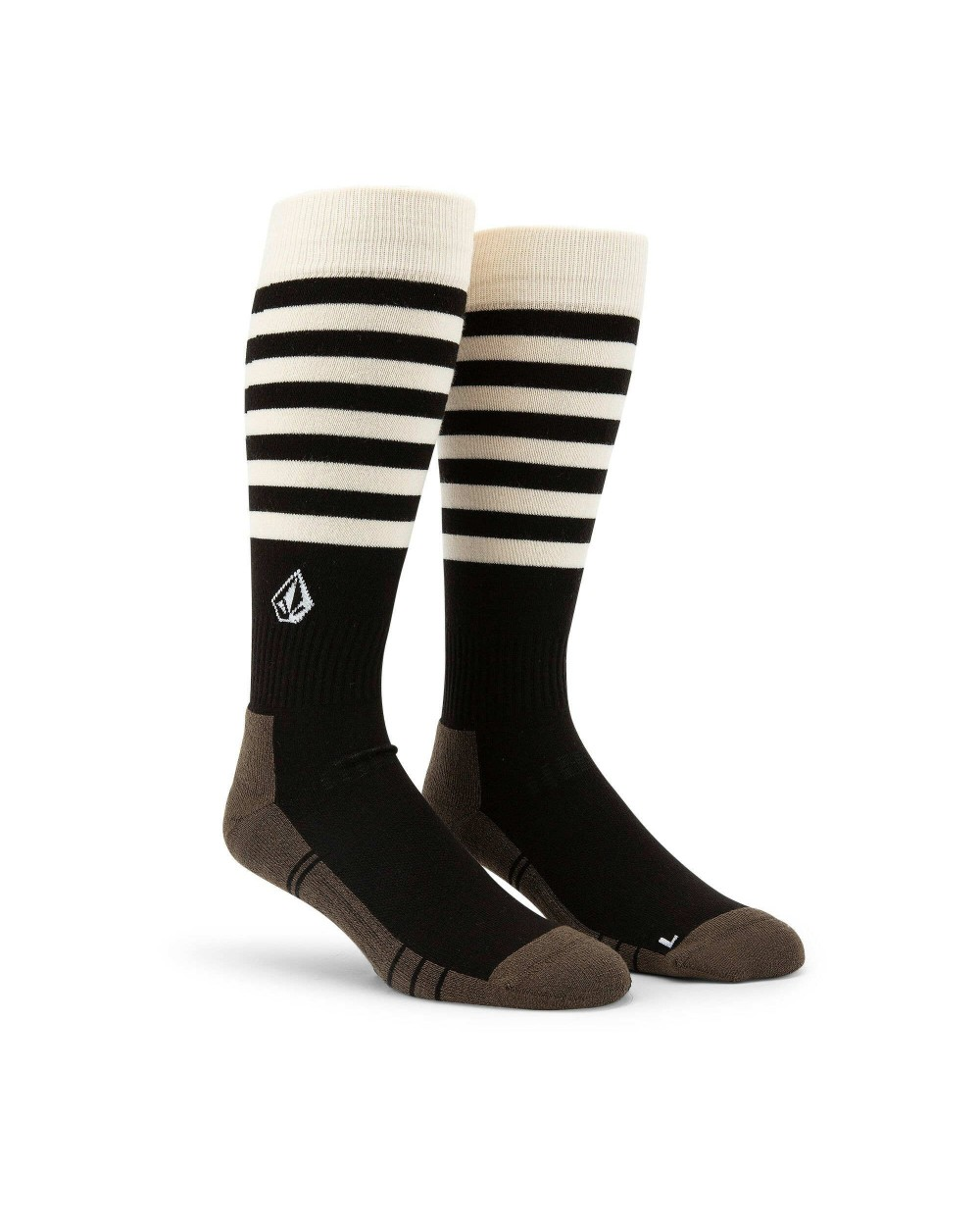 Volcom Lodge Snowboard Sock - Black Stripe