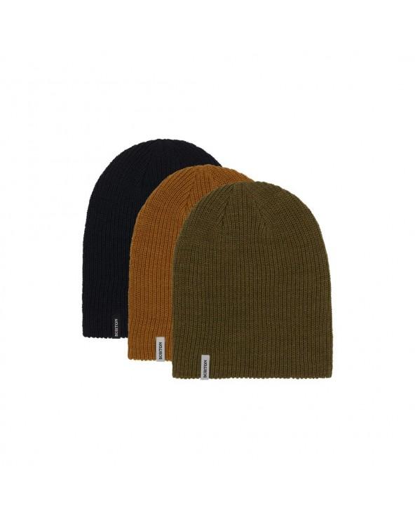 Burton DND Beanie 3-Pack - Trublk / Mrtini /Woodth