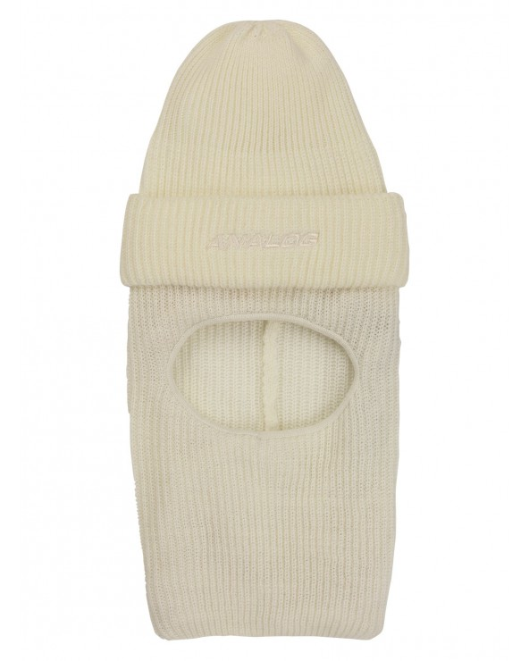 Analog Double D Beanie Hood - Stout White