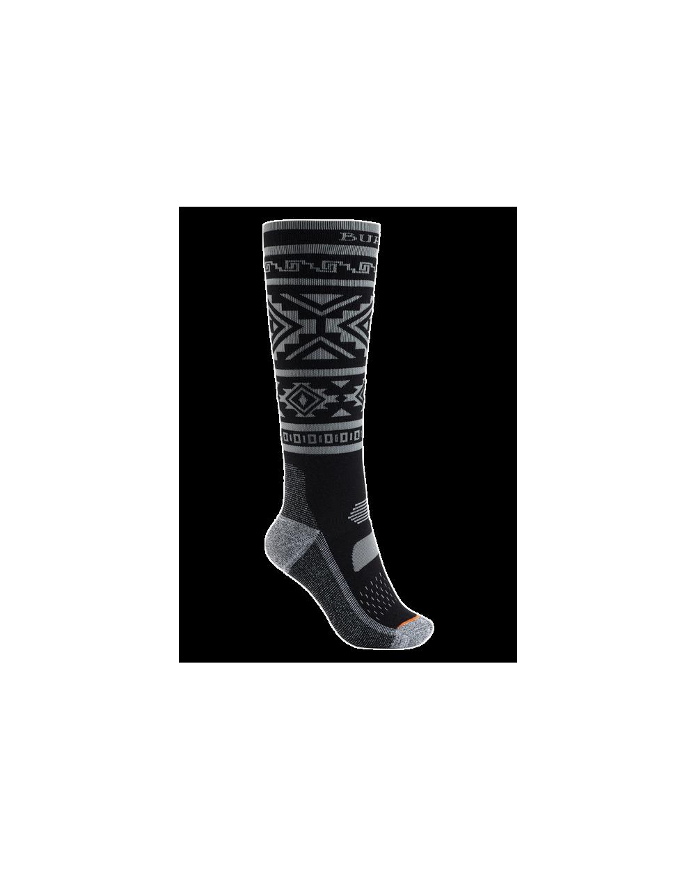 Burton Women's Performance Midweight Snowboard Socks - True Black
