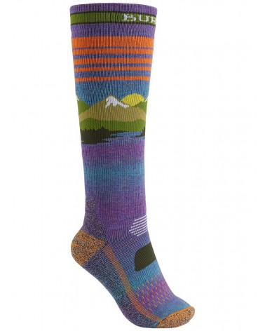 Burton Women's Performance Midweight Snowboard Socks - Vista