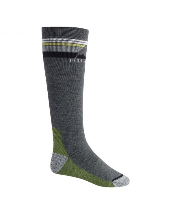 Burton Emblem Midweight Snowboard Socks - Iron