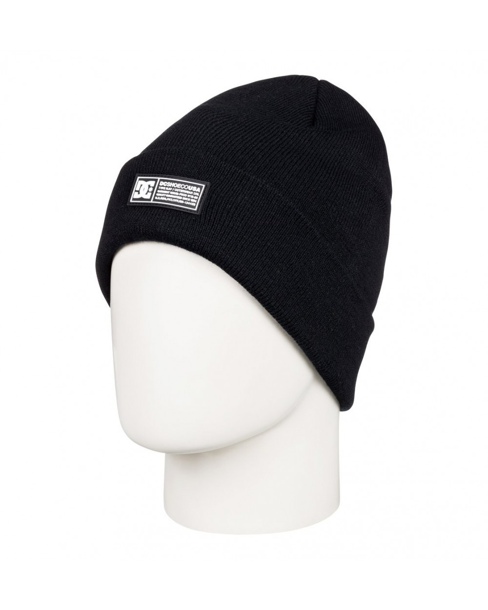 Dc Label Cuff Beanie - Black