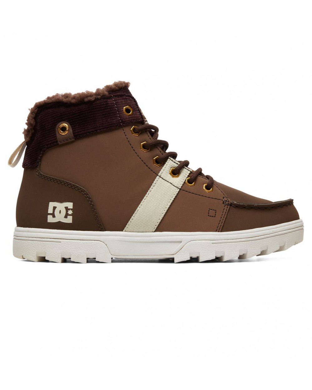 Dc Woodland Sherpa Lined Winter Boots - Chocolate Brown