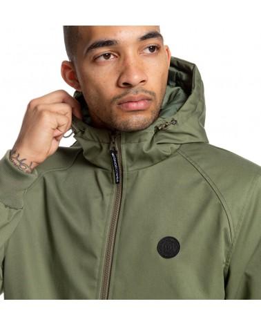 Dc Ellis Water Resistant Hooded Jacket - Fatigue Green