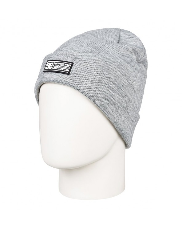 Dc Label Cuff Beanie - Neutral Grey Heather