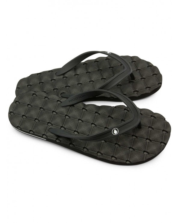Volcom Recliner Ruber 2 Sandals - Black