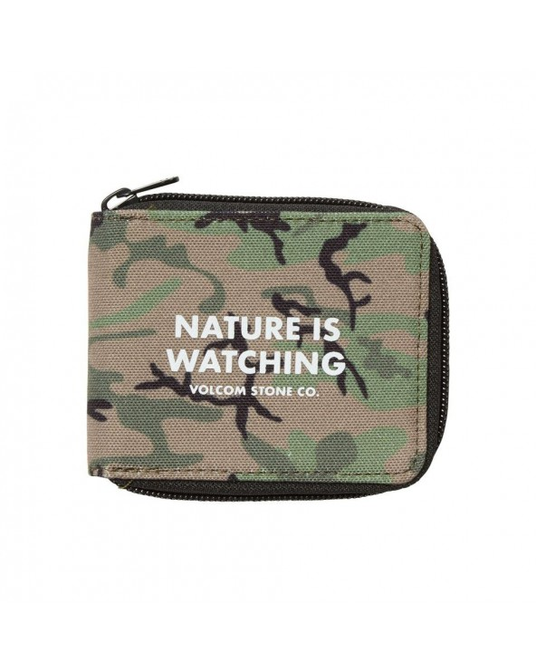Volcom Full Zip Wallet - Camo