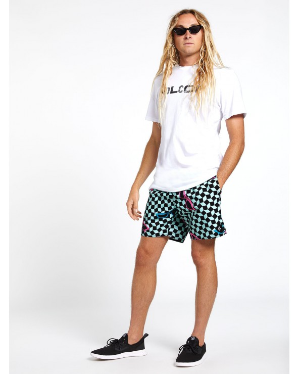 "Volcom Flashback Trunk 17"" Boardshorts - Resin Blue"