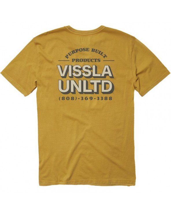 Vissla Customer Service Pigment Dye Tee - Golden Hour