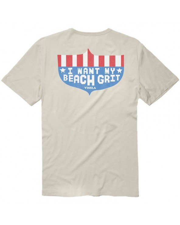 Vissla I Want My Beach Grit Vintage Wash Pocket Tee - Bone