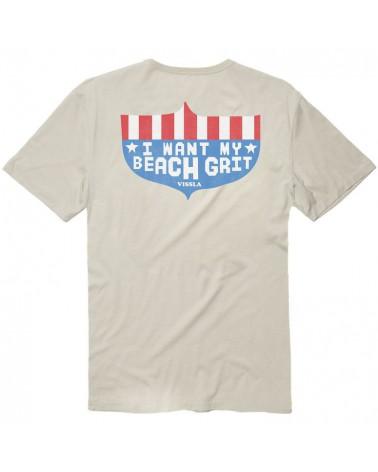 Vissla I Want My Beach Grit Vintage Wash Pocket Tee - Bone
