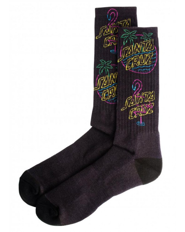 Santa Cruz Socks Glow Sock - Black - One Size