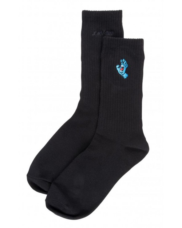Santa Cruz Socks Screaming Mini Hand - Black - One Size