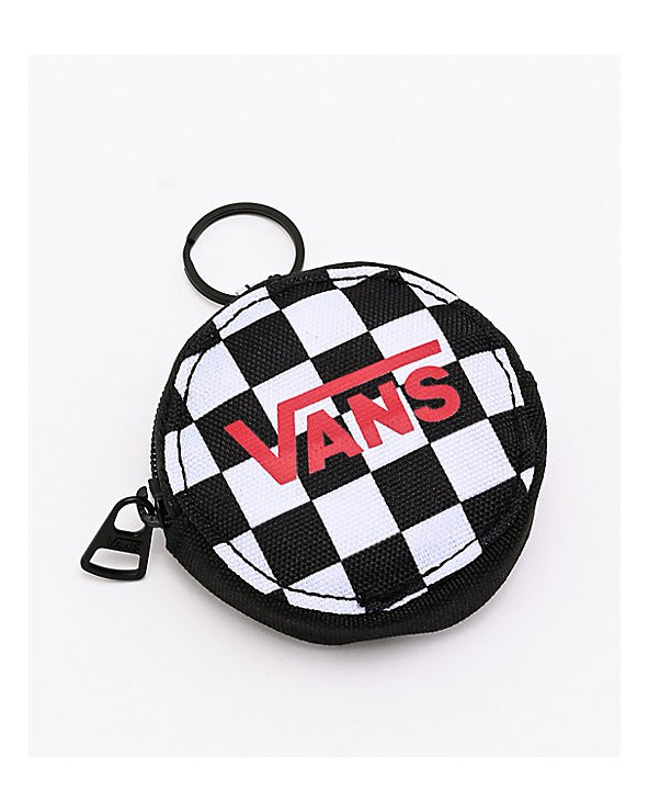 Vans Coin Purse Keychain - Black Checkerboard