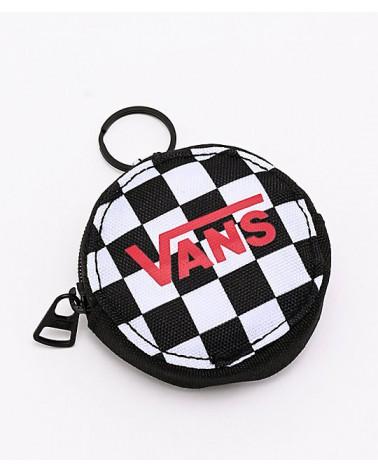 Vans Coin Purse Keychain - Black Checkerboard