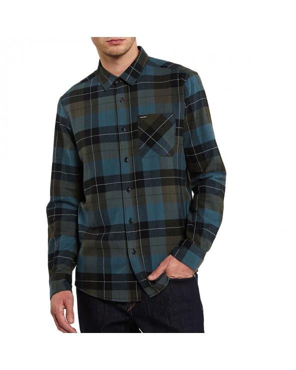 Volcom Caden Plaid Shirt - Military
