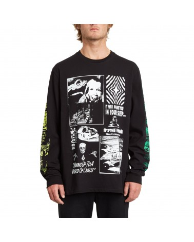 Volcom Bit Of Brain Basic Long Sleeve - Black