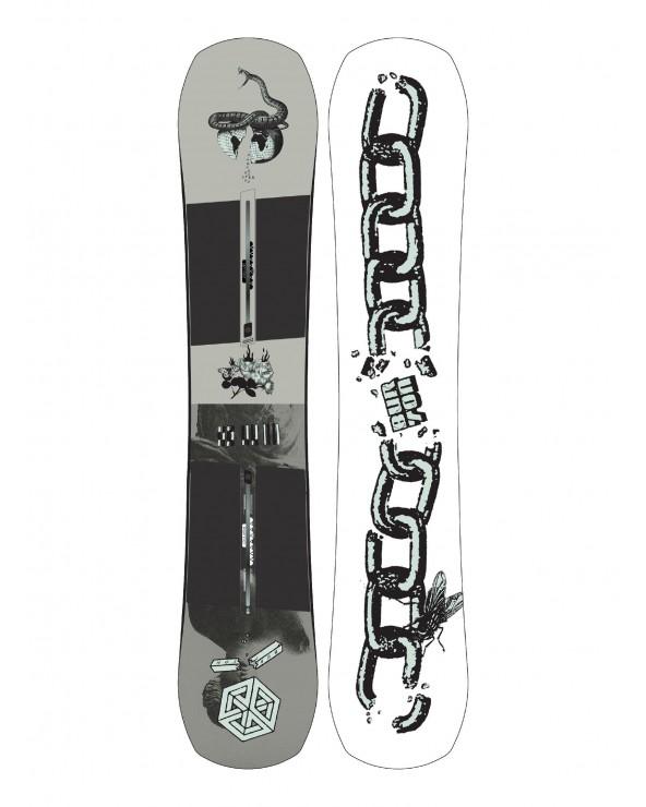Burton Name Dropper Pure Pop Camber 155 Snowboard 2021.