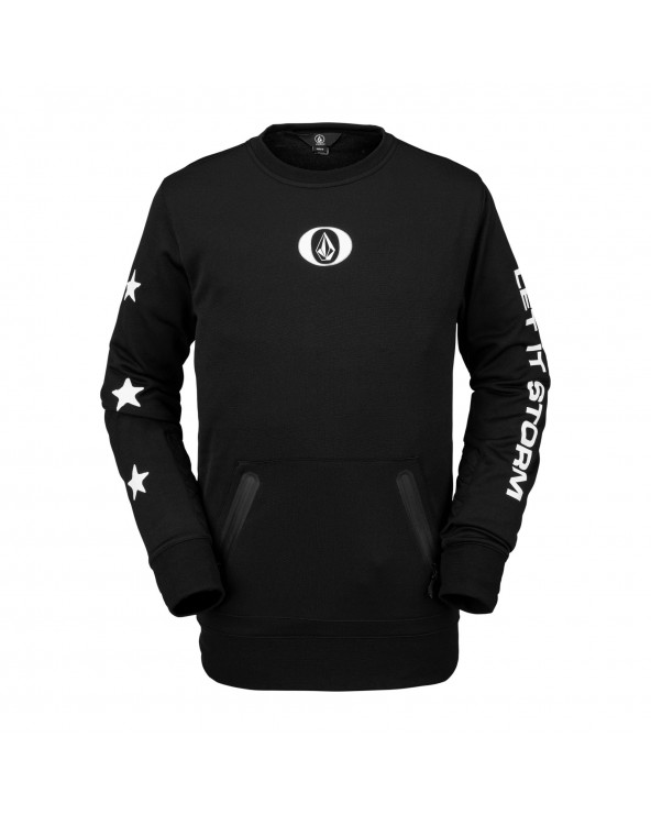 Volcom Snow Let It Storm Technical Riding Crewneck - Black