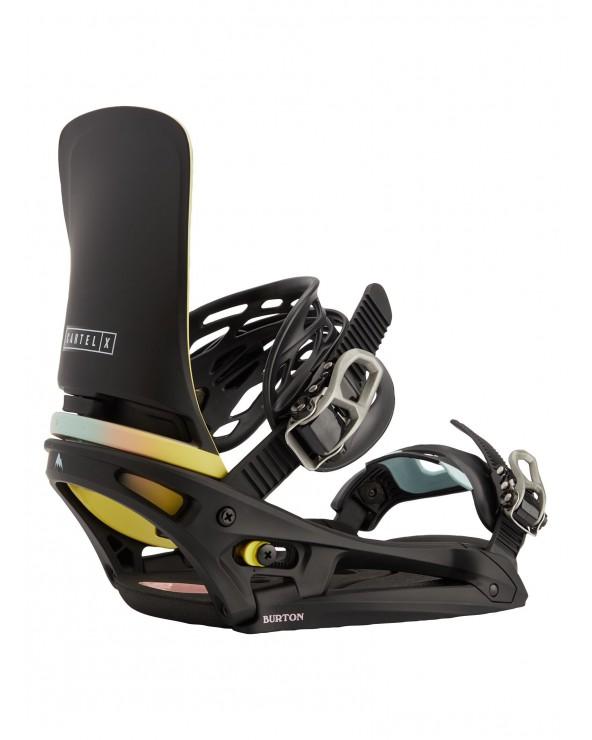 Burton Cartel X Est Snowboard Binding - Black / Multi