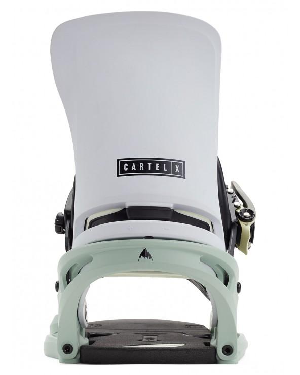 Burton Cartel X Est Snowboard Binding - Neo-Mint / White