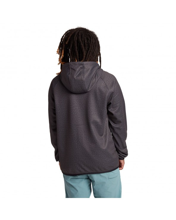 Burton Crown Weatherproof Full-Zip Fleece - Riding Zip - True Black Heather
