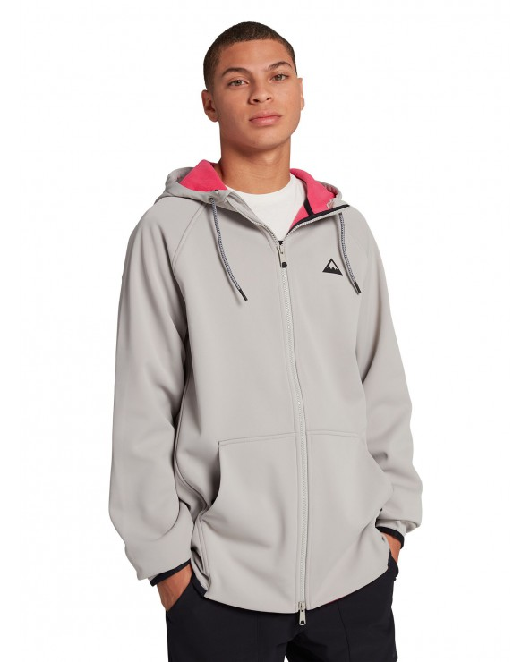 Burton Crown Weatherproof Full-Zip Fleece - Riding Zip - Iron Grey