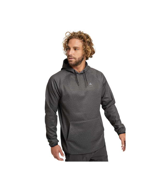 Burton Crown Weatherproof Hoodie - Riding Hoodie - True Black Heather