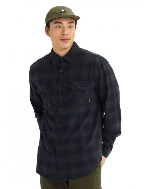 Burton Brighton Flannel Shirt - True Black Heather Buffalo Plaid