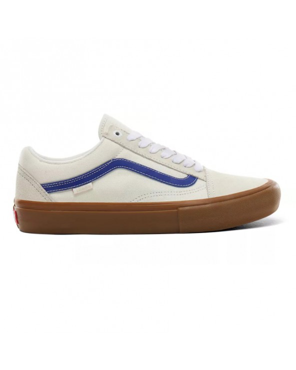 Vans Old Skool Pro Shoes - Marshmallow / Blue / Gum