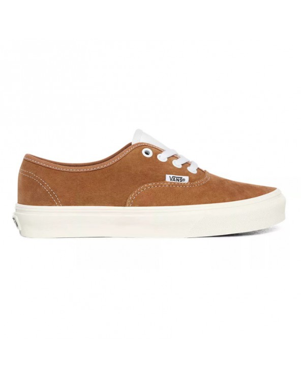 Vans Authentic Shoes - (Pig Suede) Brown Sugar/Snow White