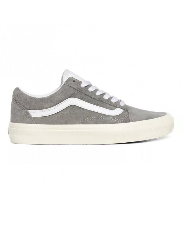 Vans Old Skool Shoes - (Pig Suede) Drizzle/Snow White