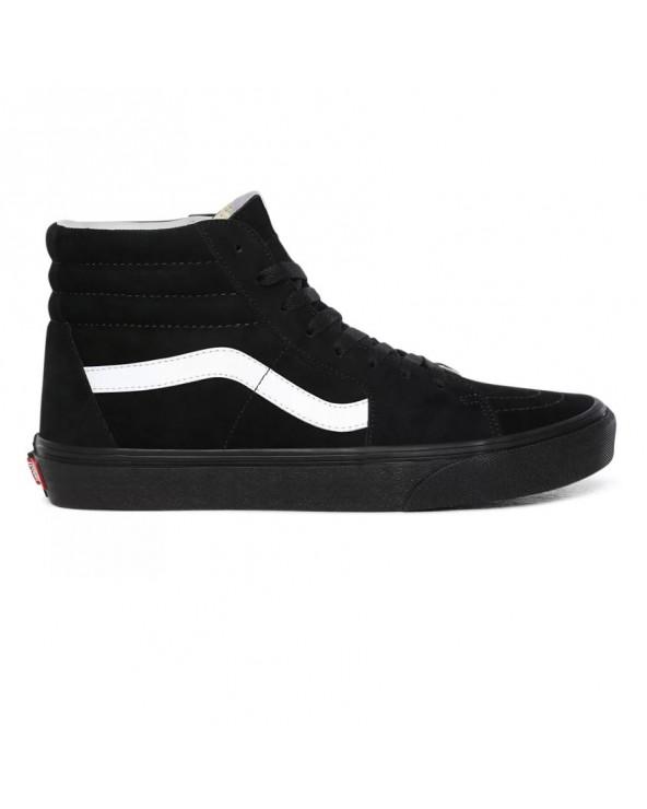 Vans Sk8-hi Shoes - (Pig Suede) Black/Black