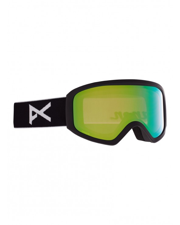 Anon W' Insight Goggle PERCEIVE + Bonus Lens - Frame: Black, Lens: PERCEIVE Variable Green. Spare Lens: Amber