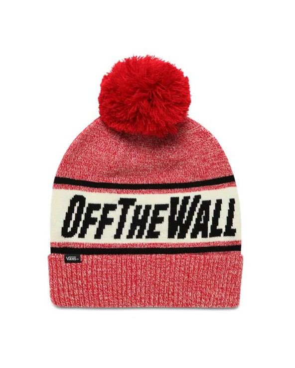 Vans Off The Wall Pom Beanie - Chili Pepper Black