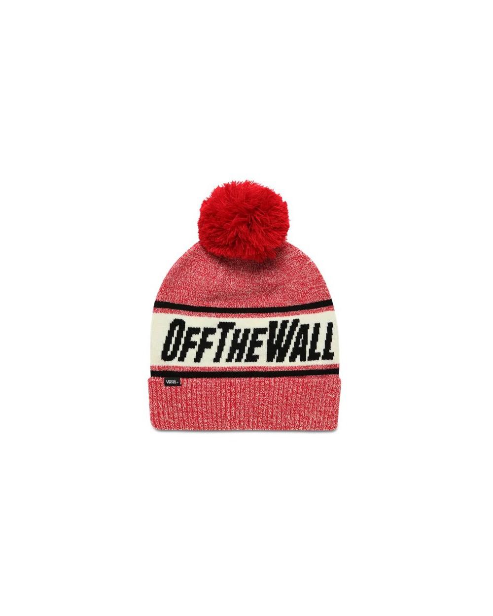Vans Off The Wall Pom Beanie - Chili Pepper Black